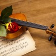 Valentine violin — Stock Photo #14435329