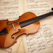 Old violin background — Stock Photo #14435375