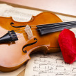 Old violin background — Stock Photo #14435461