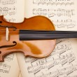 Old violin background — Stock Photo