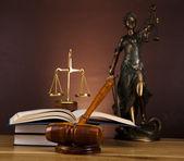 Statue antique de la justice, droit — Photo
