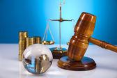 法律主题,法官、 木槌槌 — 图库照片
