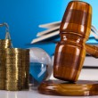 Stockfoto: Law theme, mallet of judge, wooden gavel