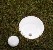 Thumbs up on golf — Stock Photo