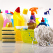 Foto Stock: Set of cleaning products
