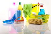Group of assorted cleaning — Foto Stock