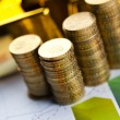 Coins and gold bars, Finance Concept — Stock Photo #18860027