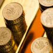 Gold bars and coins  — Stock Photo #18861709