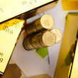 Gold bars and coins — Stock Photo #18861967