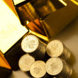 Gold bars and coins — Stock Photo #18862021