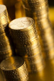 Pengar, mynt bakgrund — Stockfoto