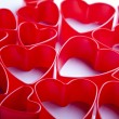 Red valentine heart — Stock Photo