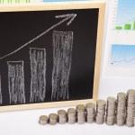Financial success concept, Coins diagram — Stock Photo