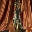 Statue of lady justice — Stock Video #20036791