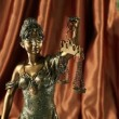 Statue of lady justice — Stock Video #20036973