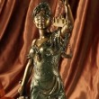 Statue of lady justice — Stock Video #20037111