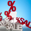Sale background with percent — Stock Photo #22653885