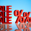 Sale background with percent — Stock Photo #22654983