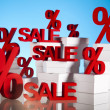 Sale background with percent — Stock Photo #22655015