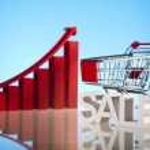 Growth chart, Shopping cart — Stock Photo #22655677