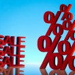 Sale background with percent — Stock Photo #22657683