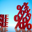 Sale, percent concept — Stock Photo