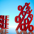 Sale, percent concept — Stockfoto
