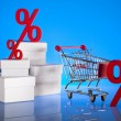 Percentage, Concept of discount — Stock Photo #22658215