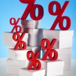 Percentage, Concept of discount — Stock Photo #22658397
