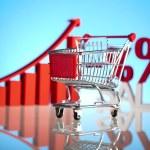 Growth chart, Shopping cart — Stock Photo #22659267
