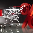 Shopping supermarket cart, percent sign — Stock Photo #22659653