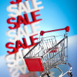 Foto Stock: Sale cart