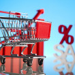 Sales growth chart, Shopping cart — Stock Photo #22661939