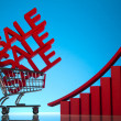 Sale cart — Stock Photo