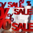 Sale background with percent — Stock Photo #22663327