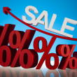 Stock Photo: Sale background with percent