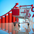 Foto Stock: Shopping cart
