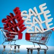 Concept discount, Shopping cart with sale — Stock Photo