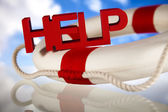 Lifebuoy and help concept — Stock Photo
