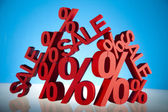 Sale background with percent — Stock Photo