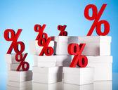 Red percentage symbol — Stock Photo