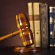 Justice Scale and Gavel — Stock Photo