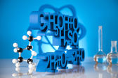 Chemistry science formula — Stockfoto