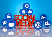 Thumbs up symbol, Social media — Stock Photo