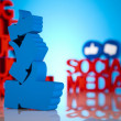 Thumbs up symbol, Social media — Stock Photo #24525981