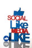 Like, Internet concept — Stock Photo