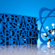 Biochemistry and atom — Stock Photo