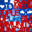Social media network icons - Stock Photo