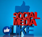 Thumbs up symbol, Social media — Foto de Stock