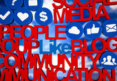 Social media network icons — Stock Photo